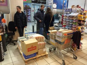 Showing support for our troops in Crimea with vital supplies