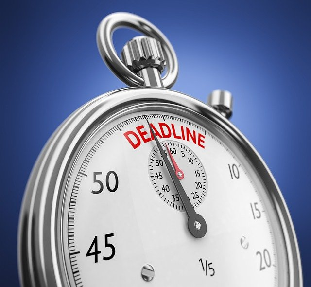 Project deadlines